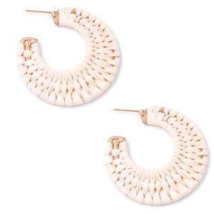 Round Fringe Raffia Earrings